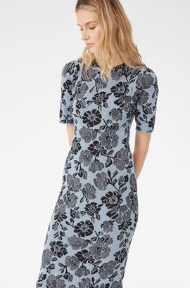 Rebecca Taylor Floral Lurex Jacquard Dress