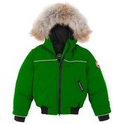 Canada Goose Grizzly Down Bomber Jacket, Jade Green, Size 2-7