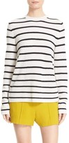 A.L.C. Women's Tula Stripe Cashmere Surplice Back Sweater