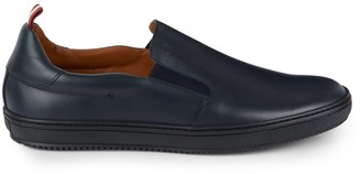 Bally Leather Elastic Insert Penny Loafers