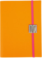 Undercover Recycled Leather Notebook Lined - Neon Orange - Midi