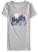 Aeropostale Womens Nyc At Night Graphic T Shirt