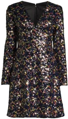 Aidan Mattox Textured Sequin Cocktail Dress