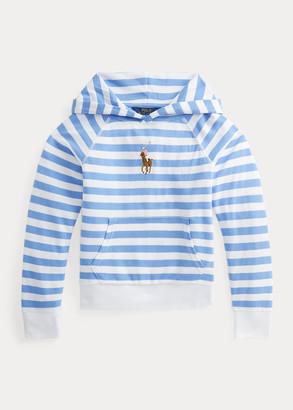 Ralph Lauren Striped Cotton Terry Hoodie