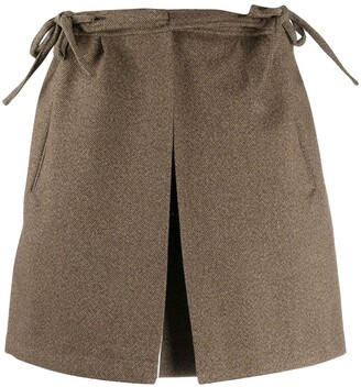 Plan C High-Waisted Mini Skirt