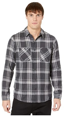 Hurley Creeper Washed Long Sleeve Shirt (Black) Men's Long Sleeve Button Up