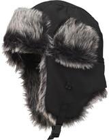 Kangaroo Poo Boys Faux Fur Lined Trapper Hat Black