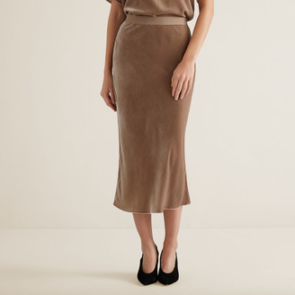 Seed Heritage Velvet Slip Skirt