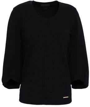 Donna Karan Twisted Ribbed-knit Sweater