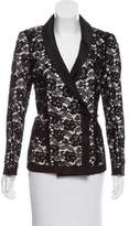 Chanel Silk-Trimmed Lace Blazer