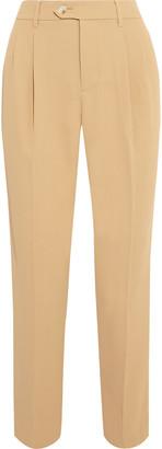 Iris & Ink Delisha Cropped Pleated Twill Tapered Pants