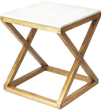 Butler Braylon Marble & Wood End Table