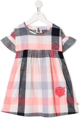 Billieblush Sequinned Check-Plaid Dress