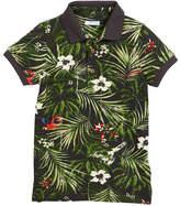 Mayoral Short-Sleeve Jungle-Print Polo, Size 4-7