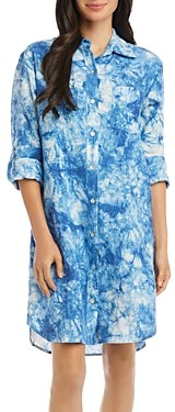 Karen Kane Linen Tie-Dyed Shirtdress