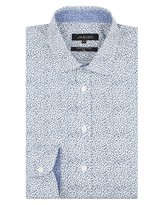 Jaeger Cotton Floral Print Slim Shirt