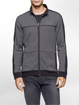 Calvin Klein Colorblock Birds-Eye Zip Sweatshirt