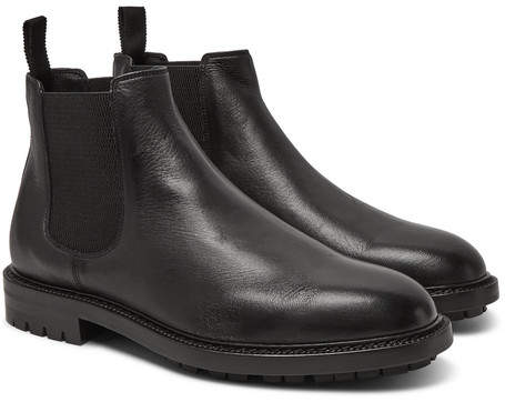 Dolce & Gabbana Full-Grain Leather Chelsea Boots
