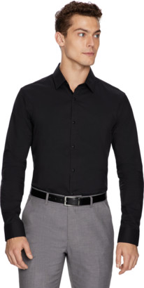 yd. Black Largo Slim Fit Dress Shirt