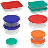 Pyrex 18-Piece Glass Mixing Bowl and Bakeware Set with Assorted Color Lids