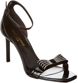 Saint Laurent Amber Bow 85 Patent Sandal