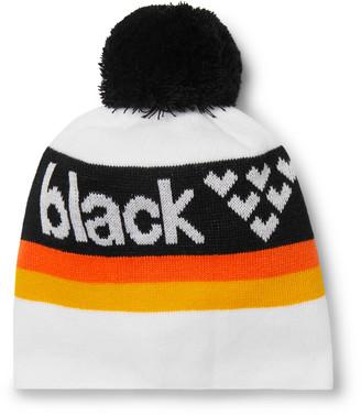 Black Crows Nomen Logo-Intarsia Knitted Beanie