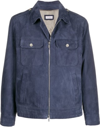 Brunello Cucinelli Multi-Pocket Zip-Up Jacket
