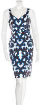 David Meister Sleeveless Abstract Print Dress