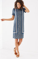 J. Jill Knit Border-Print Dress