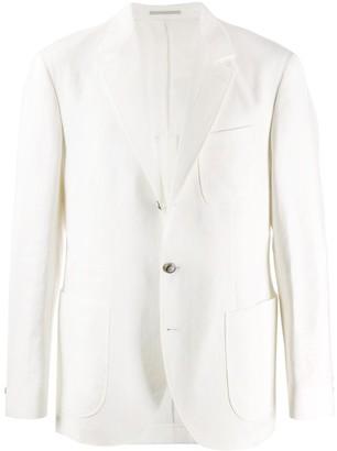 Brunello Cucinelli Single-Breasted Linen Blazer