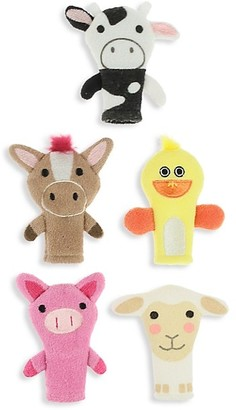 Capelli New York Farmyard Animals 5-Piece Finger Wash Puppet Set