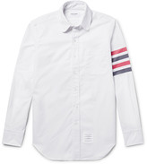 Thom Browne Slim-Fit Penny-Collar Striped Cotton Oxford Shirt