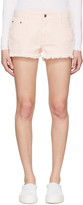 Stella McCartney Pink Denim Cut Off Shorts
