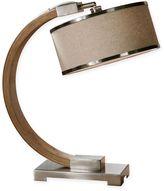 Uttermost Metauro Wood Desk Lamp in Chrome