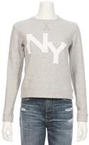 TALLEY Overlap Puff NY Pullover Sweatshirt
