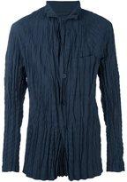 Issey Miyake high neck creased jacket