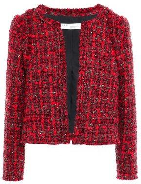 IRO Disco Frayed Metallic Boucle-tweed Jacket