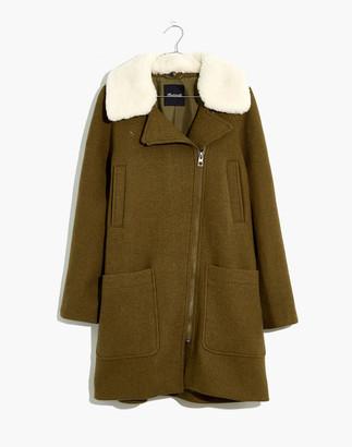 Madewell Petite Eldridge Zip Coat in Insuluxe Fabric