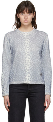 Kenzo Grey Cashmere Guepard Sweater