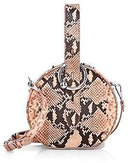 Rebecca Minkoff Women's Kate Snakeskin-Embossed Leather Circle Bag