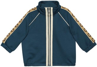 Gucci Baby technical jersey jacket with InterlockingG