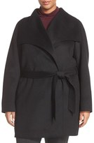 T Tahari Plus Size Women's Tahari 'Ella' Wrap Coat