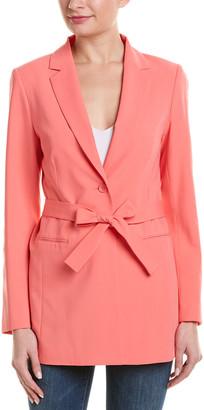 BCBGMAXAZRIA Tie-Waist Coat
