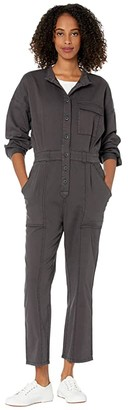 Current/Elliott Meta Coverall (Washed Black) Women's Jumpsuit & Rompers One Piece