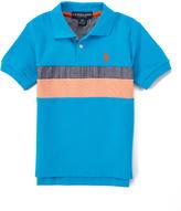 U.S. Polo Assn. Flip Flop Blue Chambray-Stripe Polo - Toddler & Boys