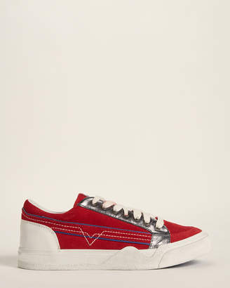 Diesel Tango Red S-Grindd Low Lace Suede Low-Top Sneakers