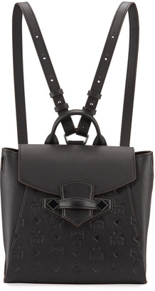 MCM Essential Small Monogrammed Leather Backpack