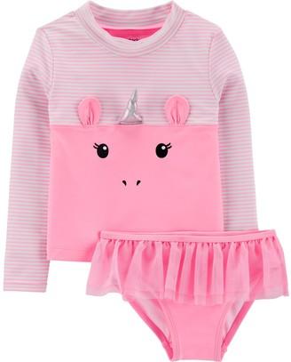 Carters Baby Girls 2 Piece Rashguard Swim Set Baby Girls Clothing ...