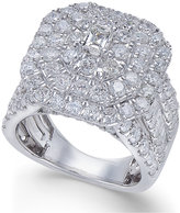 Macy's Diamond Cluster Engagement Ring (4 ct. t.w.) in 14k White Gold