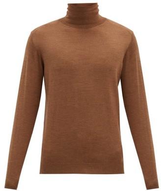 Caruso Roll-neck Wool Sweater - Beige